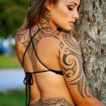 A girls Polynesian tattoo 150x150
