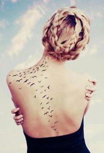 Flock Of Birds Tattoo 500x731 205x300