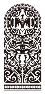 Maori sleeve tattoo 145x300