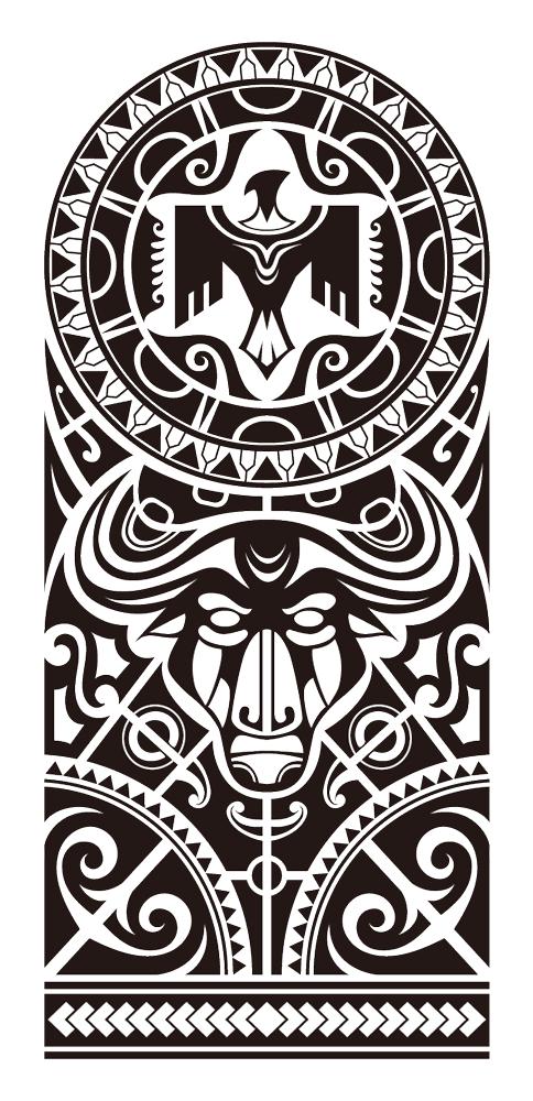 Maori sleeve tattoo - tatuajes maories