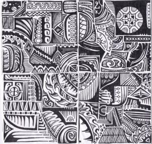 Polynesian Tribal Design 300x284