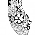 Polynesian chest tattoo 150x150
