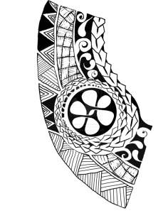 Polynesian chest tattoo 236x300