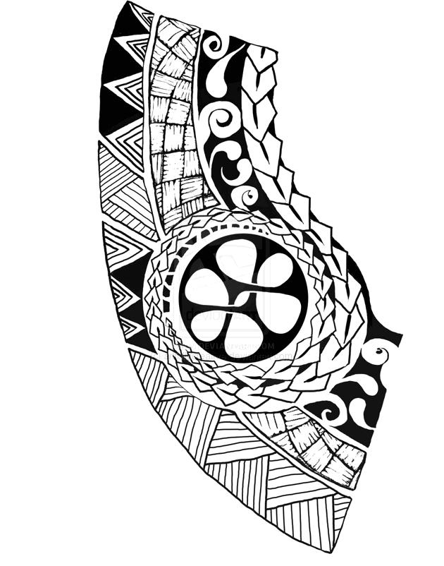 Polynesian chest tattoo - tatuajes maories
