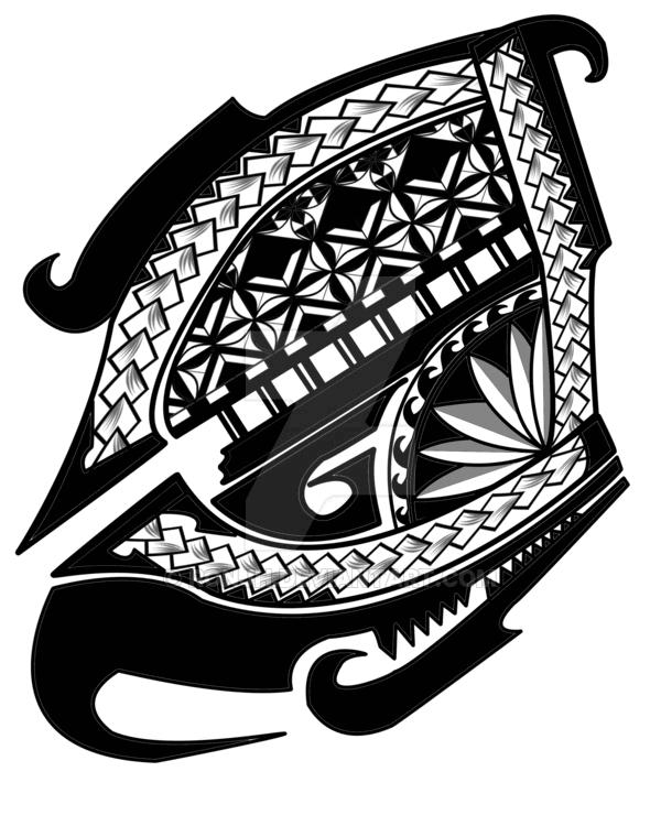 Polynesian shoulder tattoo - tatuajes maories
