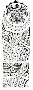 Polynesian tattoo pattern 110x300