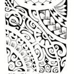 Polynesian tattoo pattern 150x150