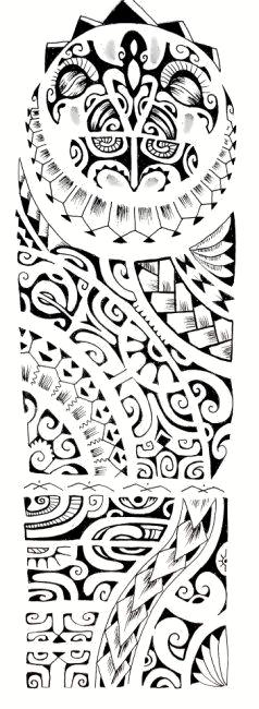 Polynesian tattoo pattern - tatuajes maories