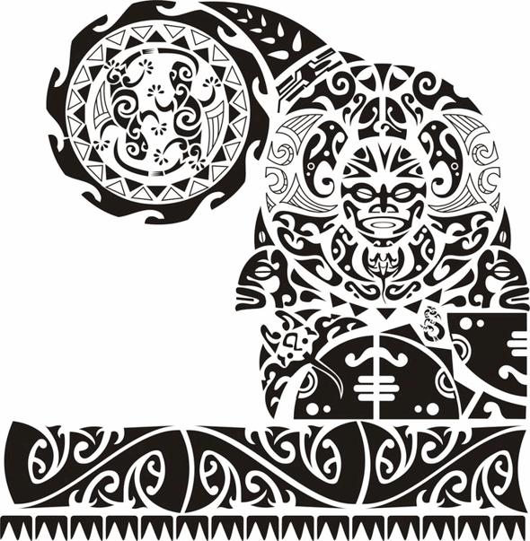 Shoulder and chest tattoo - tatuajes maories