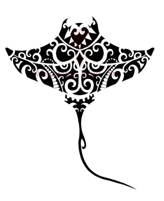 Stingray tattoo - tatuajes maories