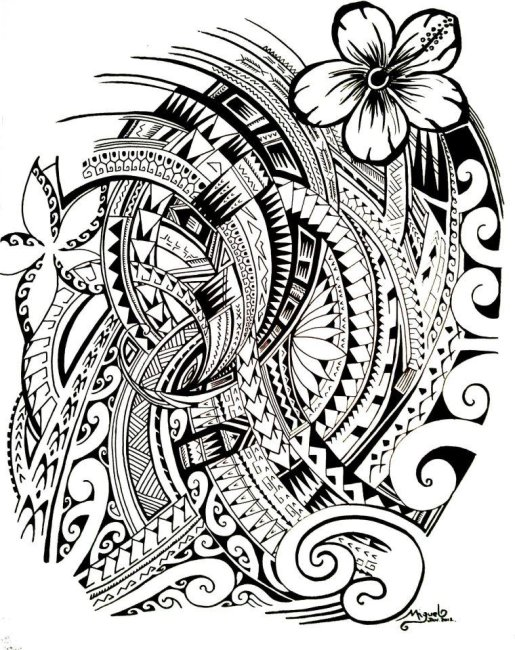 Tattoo symbols of Polynesia - tatuajes maories