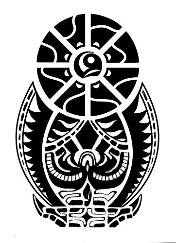 The black symbol - tatuajes maories