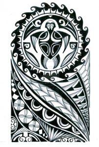 Tribal sleeve tattoo 202x300
