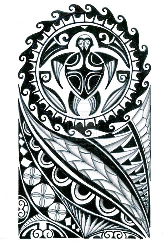 Tribal sleeve tattoo - tatuajes maories