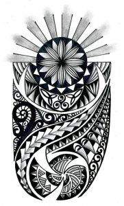 Tribal with celtic elements 181x300