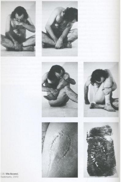 Vito acconci 1970