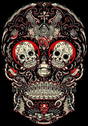 bocetos disenos tatuajes calaveras mexicanas tattoo 1