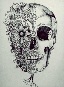 bocetos disenos tatuajes calaveras mexicanas tattoo 2 221x300
