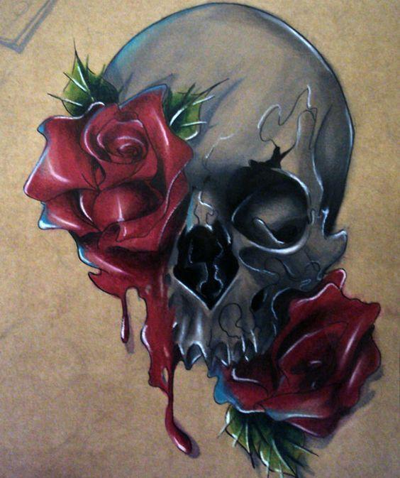 bocetos disenos tatuajes calaveras mexicanas tattoo 5 - calaveras mexicanas