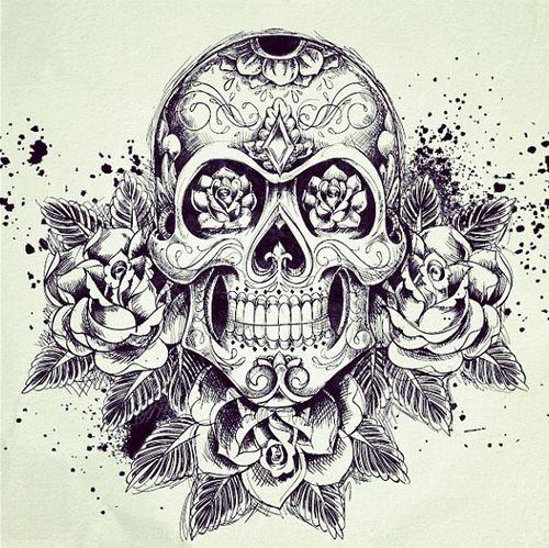 bocetos disenos tatuajes calaveras mexicanas tattoo 8 - calaveras mexicanas