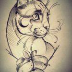 diseño tatuajes de gatos dibujos tattoo cat 14 150x150