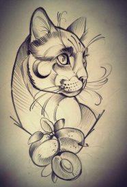 diseno-tatuajes-de-gatos-dibujos-tattoo-cat-14