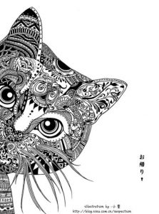diseño tatuajes de gatos dibujos tattoo cat 15 223x300