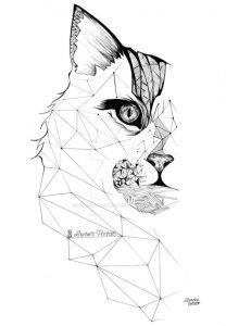 diseño tatuajes de gatos dibujos tattoo cat 16 208x300