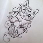 diseño tatuajes de gatos dibujos tattoo cat 2 150x150