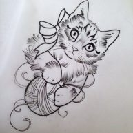 diseno-tatuajes-de-gatos-dibujos-tattoo-cat-2