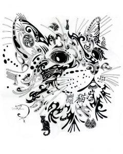 diseño tatuajes de gatos dibujos tattoo cat 23 240x300