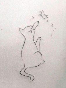 diseño tatuajes de gatos dibujos tattoo cat 26 227x300