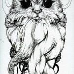 diseño tatuajes de gatos dibujos tattoo cat 3 150x150