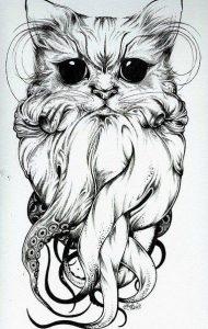diseño tatuajes de gatos dibujos tattoo cat 3 190x300