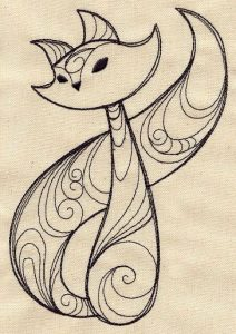diseño tatuajes de gatos dibujos tattoo cat 5 212x300