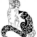 diseño tatuajes de gatos dibujos tattoo cat 6 150x150