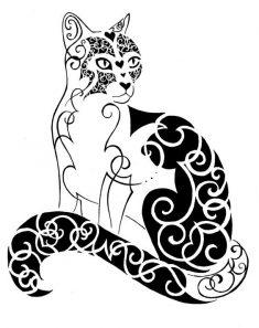 diseno-tatuajes-de-gatos-dibujos-tattoo-cat-6