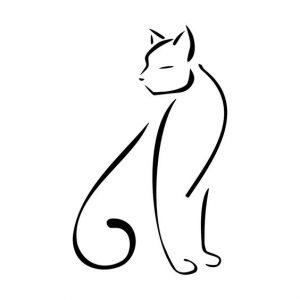 diseño tatuajes de gatos dibujos tattoo cat 8 300x300