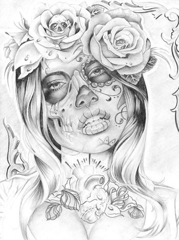 disenos bocetos tatuajes catrinas 3 - tatuajes de catrinas