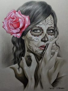 disenos bocetos tatuajes catrinas 4 225x300