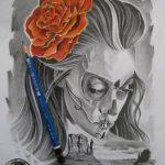 disenos bocetos tatuajes catrinas 7 150x150