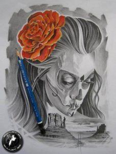 disenos bocetos tatuajes catrinas 7 227x300