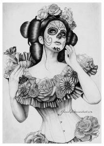 disenos bocetos tatuajes catrinas 8 214x300