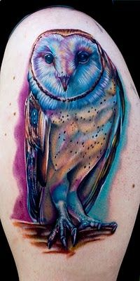 tattoo buho tatuajes nueva escuela 2 - tatuajes de búhos