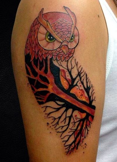 tattoo buho tatuajes nueva escuela 7 e1487109850337 - tatuajes de búhos