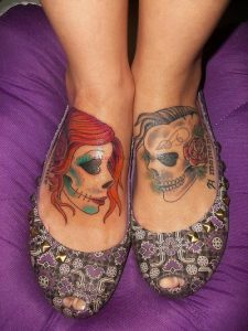 tatuaje catrina color tattoo 1 225x300