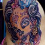 tatuaje catrina color tattoo 3 150x150