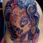 tatuaje catrina color tattoo 3 150x150