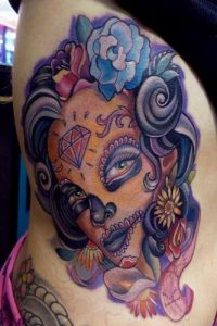 tatuaje catrina color tattoo 3 200x300