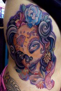 tatuaje catrina color tattoo 3 200x300